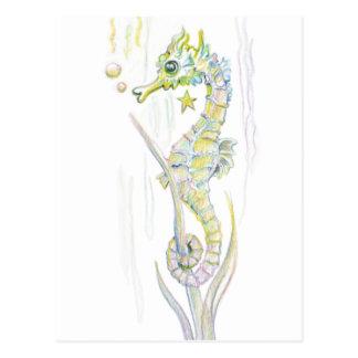 Succulent Seahorse Postcard