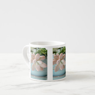 Succulent Sedum Pink Jelly Bean Plant 6 Oz Ceramic Espresso Cup