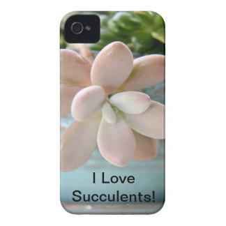 Succulent Sedum Pink Jelly Bean Plant iPhone 4 Case-Mate Cases