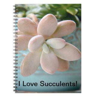 Succulent Sedum Pink Jelly Bean Plant Notebook