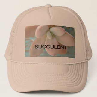 Succulent Sedum Pink Jelly Bean Plant Trucker Hat