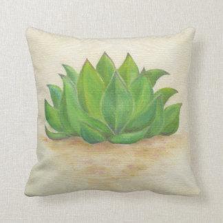 Succulent sempervivum throw pillow