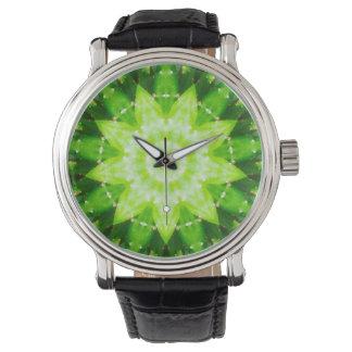 Succulent Star Shaped Cactus Fractal Wristwatch