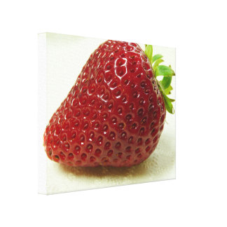 Succulent Strawberry Fruit Food Photography Canvas Print