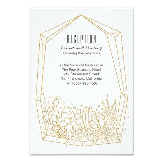 Succulent Terrarium Wedding Reception Card