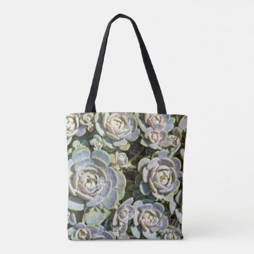 Beach Themed Succulent Tote Bag
