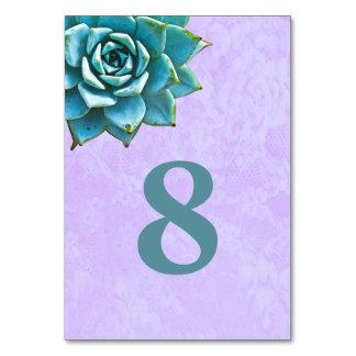 Succulent Watercolor Lavender Lace Card