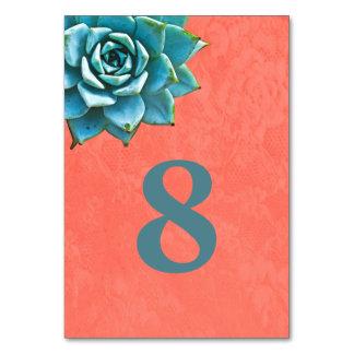 Succulent Watercolor Orange Lace Card