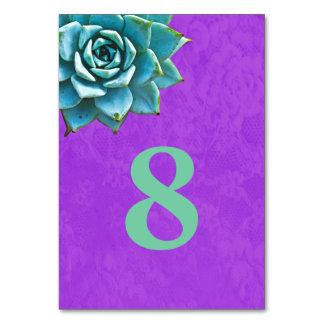 Succulent Watercolor Purple Lace Card
