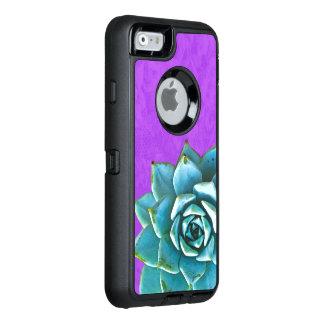 Succulent Watercolor Purple Lace OtterBox Defender iPhone Case