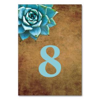 Succulent Watercolor Rustic Brown Card