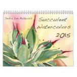 Succulent Watercolors 2015 by Debra Lee Baldwin Wall Calendars