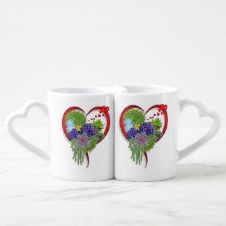 Succulent-wedding-lovers-bouquet Coffee Mug Set