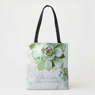 Succulent Wedding Maid of Honor Tote Bag
