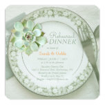 Succulent Wedding Rehearsal Dinner Invitation