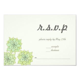 Succulent Wedding RSVP 3.5x5 Paper Invitation Card
