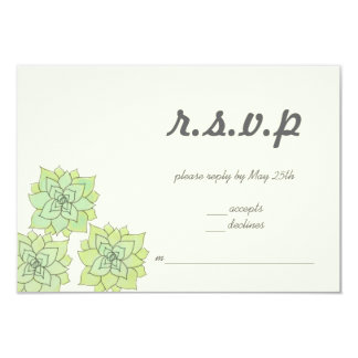 Succulent Wedding RSVP Personalized Invite