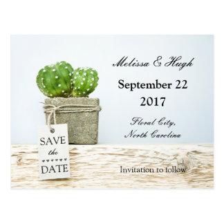 Succulent Wedding Save The Date Postcard
