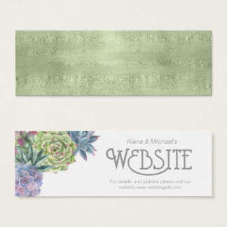Succulents and Sparkle  Website Insert Green ID515