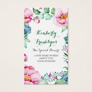 Succulents botánicos de la flor del jardín floral tarjetas de visita