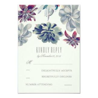 Succulents Bouquet Wedding RSVP Cards