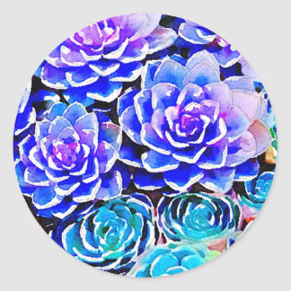 Succulents Classic Round Sticker