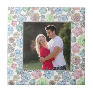 Succulents custom photo tile