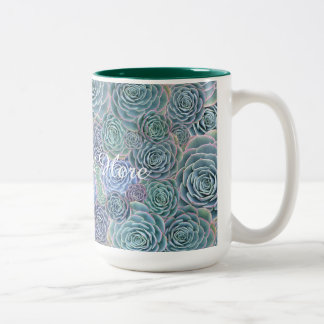 Succulents Design Custom Text Mug