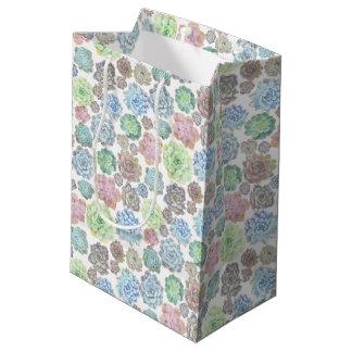 Succulents design giftbag medium gift bag