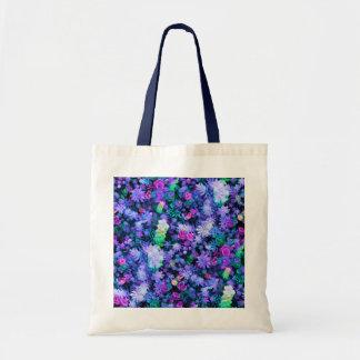 Succulents florales rosados y púrpuras femeninos bolsa lienzo