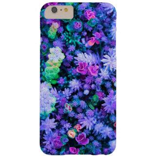 Succulents florales rosados y púrpuras femeninos funda de iPhone 6 plus barely there