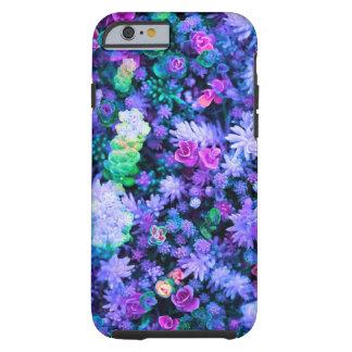 Succulents florales rosados y púrpuras femeninos funda para iPhone 6 tough