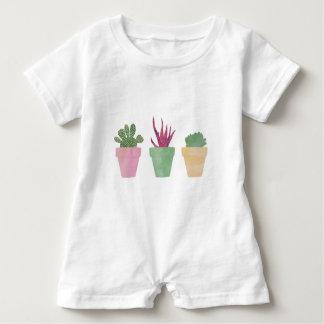 Succulents Illustration Baby Romper