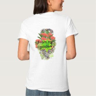 Succulents on garden pebbles tee shirt