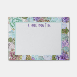 Succulents Post-it note pad