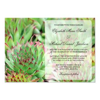 Succulents que casan la invitación