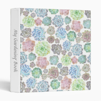 Succulents ring binder