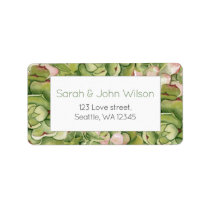 Succulents Rustic Wedding address labels