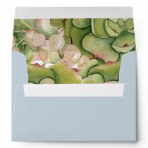Succulents Rustic Wedding envelopes