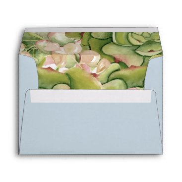 Succulents Rustic Wedding envelopes