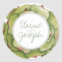 Succulents Rustic Wedding stickers