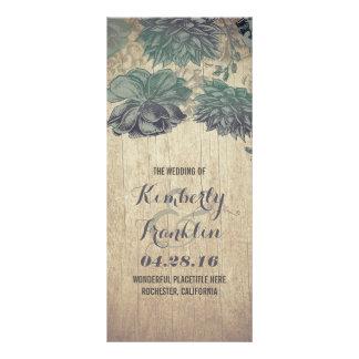 Succulents Rustic Wood Wedding Programs
