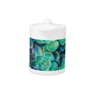 Succulents, Succulent, Cactus, Cacti, Green, Plant Teapot