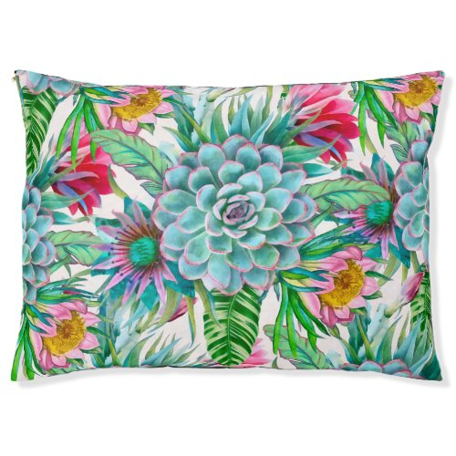 Succulents tropical garden pet bed