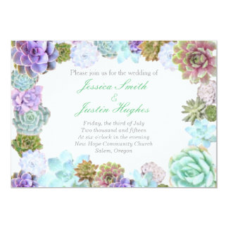 Succulents wedding invitation