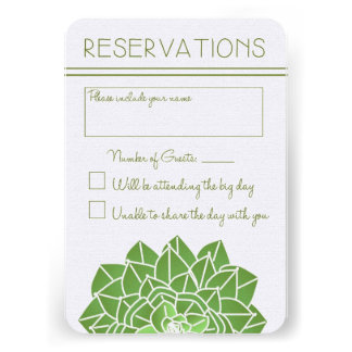 Succulents Wedding Reply Card