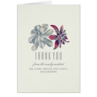 Succulents Wedding Thank You Card