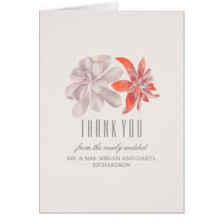 Succulents Wedding Thank You Card