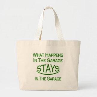 Sucede en el garaje. Verde Bolsa De Mano