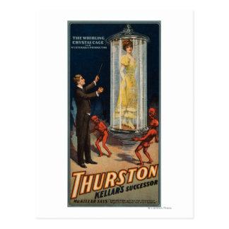Sucesor de Thurston Kellar - mujer en agua Tarjetas Postales